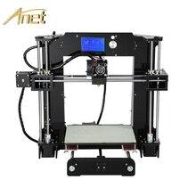 Анет A6 A8 Impresora 3D-принтеры легко собрать с Автоматическое выравнивание большой Размеры Рождественские подарки Reprap i3 DIY принтеры SD карты