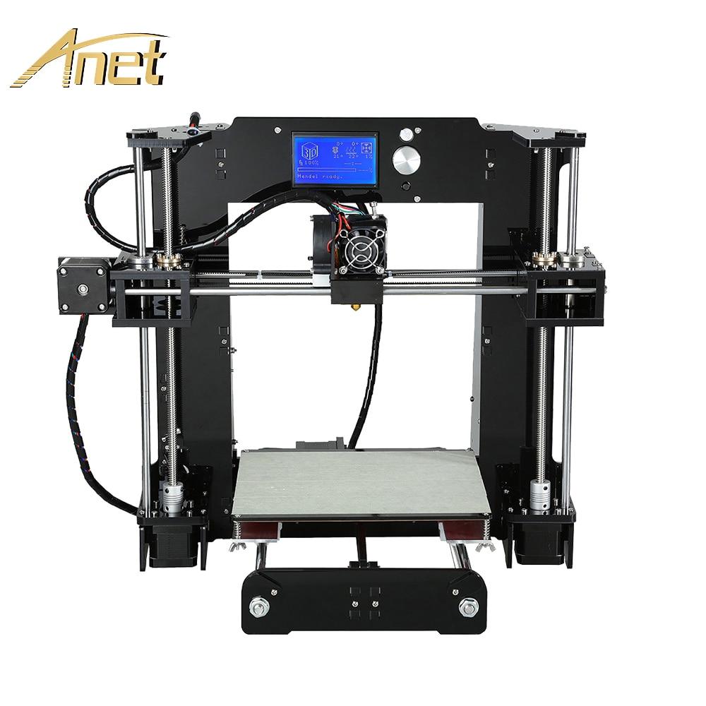 Anet A6 A8 Impresora 3D Impresora fácil de montar con nivelación automática de gran tamaño regalos de navidad Reprap i3 DIY impresoras SD tarjeta de