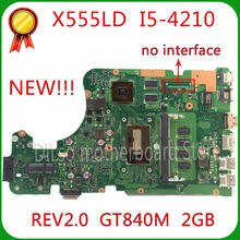 Shuohu X555LD для ASUS X555LD R557L материнская плата для ноутбука rev2.0/1.1/3.1/3.3 GT840M i5-4210U материнская плата 100% тестирование материнской платы