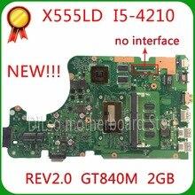 SHUOHU X555LD Pour ASUS X555LD mère d'ordinateur portable X555LD rev2.0 GT840M i5-4210U cpu à bord carte mère 100{c21a25856bfcb9027934937cf6e27734c848961347a77128bb7b6571e4c99dec} testé la carte mère