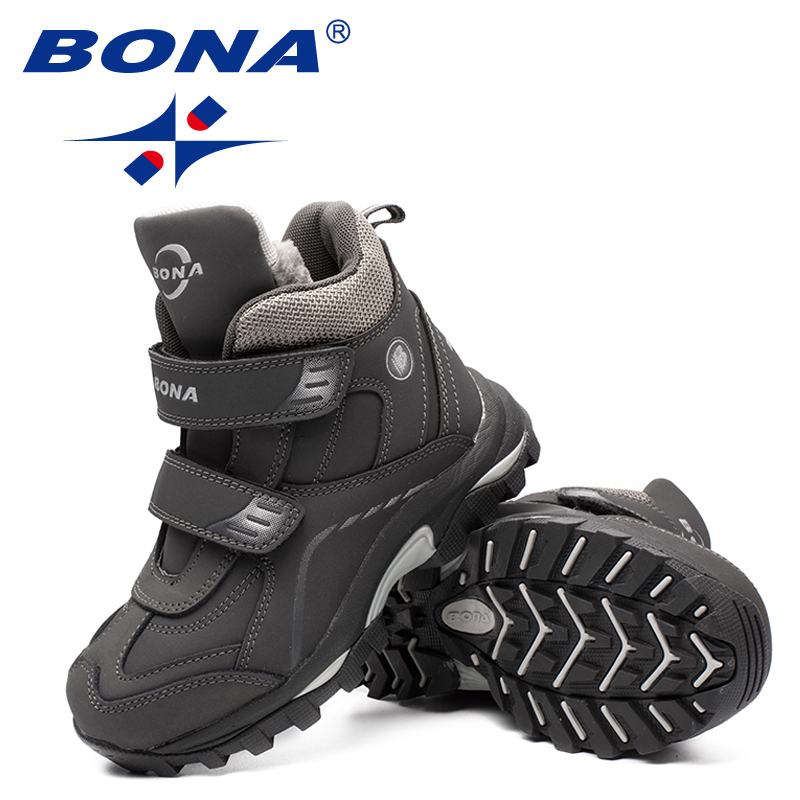 BONA New Arrival Typical Style Children Boots Round Toe Boys Snow Boots Hook & Loop Kids Fashion Sneakers Light Free Shipping