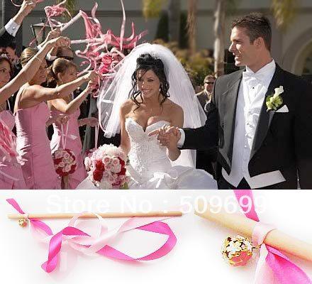 wedding ribbon wand magic wand decorative outdoor weddingsuppliesparty decorations free shipping