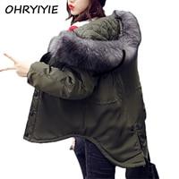 OHRYIYIE Plus Size 5XL 6XL Women's Winter Jacket Women Parkas 2018 Autumn Winter Big Faux Fur Collar Hooded Female Warm Coat W55