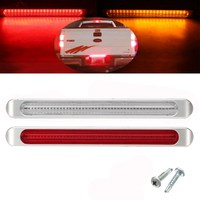 1Pc 17 IP68 47 LED Car Tail Stop Light Sequential Indicator Bar Strip Truck Trailer Red