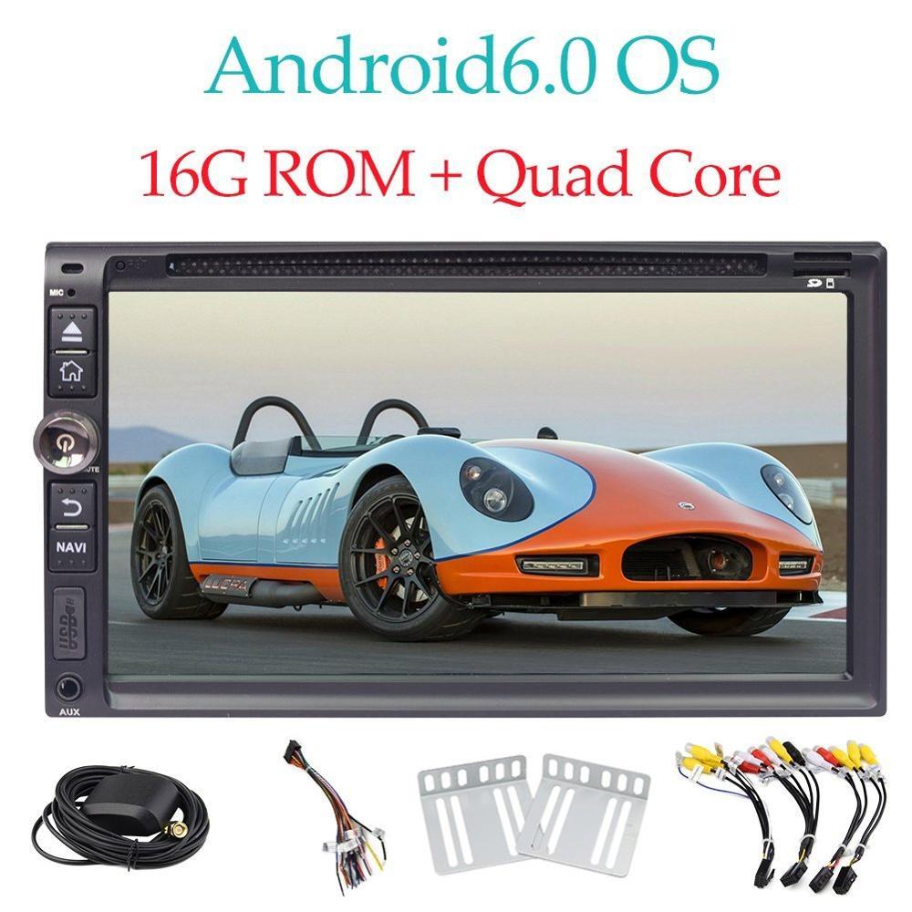 Android 6.0 автомобиль Радио в тире головное устройство 6.95 ''автомобильный Мониторы dvd плеер без карта Bluetooth Hands Free Поддержка зеркало Ссылка