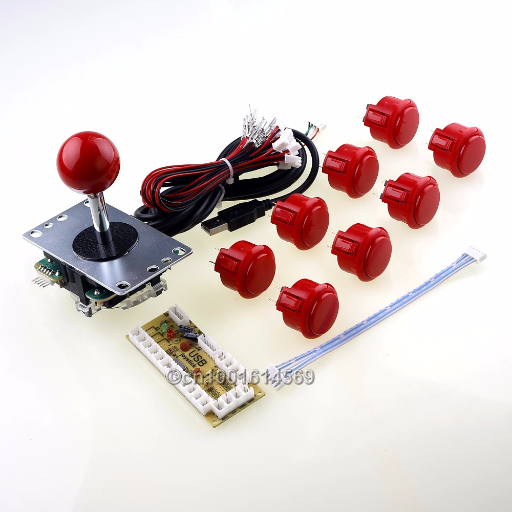 Arcade DIY Kit Parts PC Encoder To Genuine Sanwa 5 Pin Joystick Wire & 8 X Sanwa Arcade Buttons To Raspberry PI Retropie Project safety and often converter 4 buttons to remote controle arcade transform screen to street fighter for tekken display