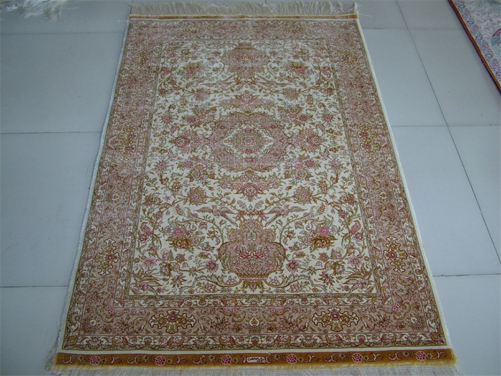 Manufacturer Persian Silk Carpet In Stock Hand Knotted Persian Silk Rug For  Prayer