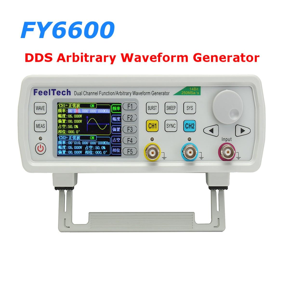 FY6600 60Hz FeelTech DDS Dual Channel Function Arbitrary Waveform Generator frequency meter Arbitrary Digital Signal Generator rigol dg1022u 25mhz arbitrary waveform frequency meter function generator with usb signal generator