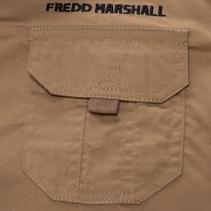 Image 4 - Fredd Marshall männer langarm shirts 2017 mode casual baumwolle hemd plus größe 3XL taste arbeit weiß hemd camisa masculina