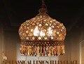 Frete grátis Bohemian estilo colorido ferro luz pingente de cristal Miderranean criativo sala de jantar pingente Pastoral lâmpada