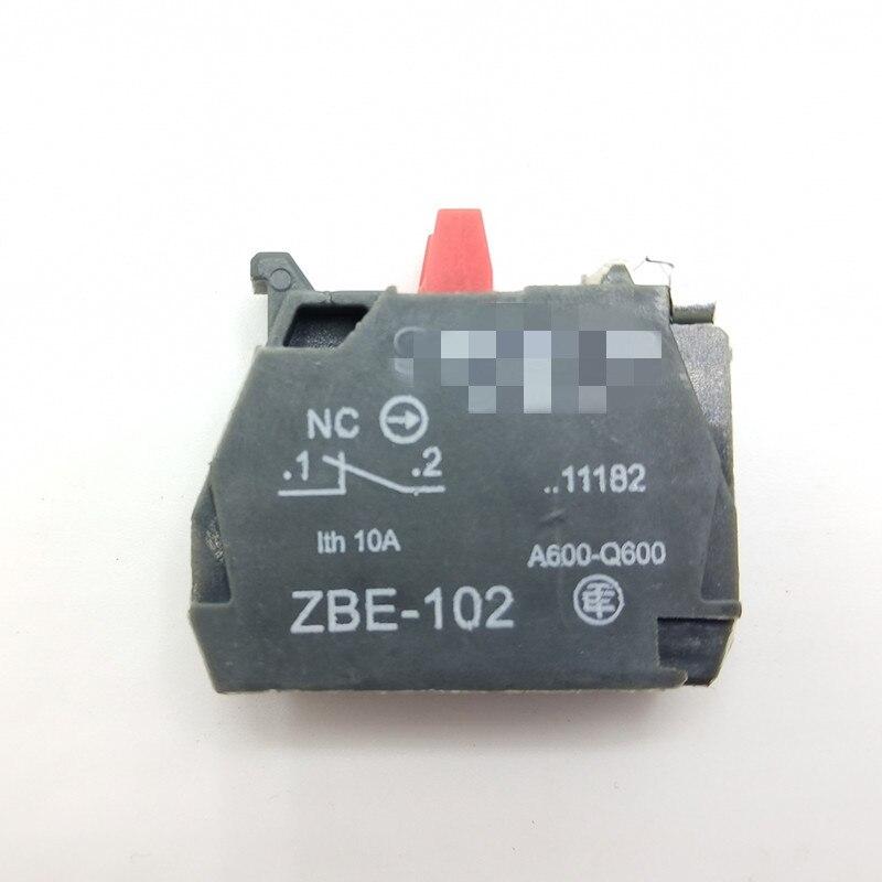 XB2 XB4 кнопочный блок контактов ZB2-BE101C ZB2-BE102C ZBE-101 ZBE-102 НЗ Переключатель связаться с нами - Цвет: Золотой