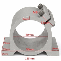 Sliver 80mm Diameter Spindle Motor Mount Bracket Clamp For CNC Engraving Machine Wholesale Price 80mm Spindle Mount