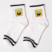 Women's Cartoon Print Striped Socks