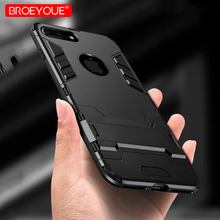 BROEYOUE Armor Case For iPhone 5 5S SE 6 6S Plus 7 8 Plus X Hybrid Silicone Hard Iron Man Rubber Protective Phone Back Cover стоимость
