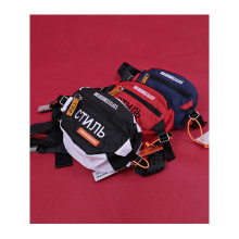 Heron Preston HBX BLUE/RED/BLACK FANNY PACK HP AIRBORNE Collection Heron Preston Logo Patch Waist Packs  CTnnb Embroidered Bag the blue heron ranch cookbook
