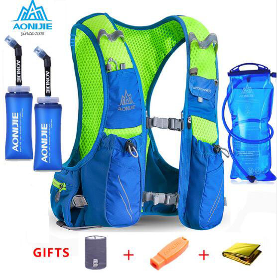 AONIJIE 10L Outdoor Bags Hiking Backpack Vest Professional Marathon Running Cycling Backpack for 1 5L Water