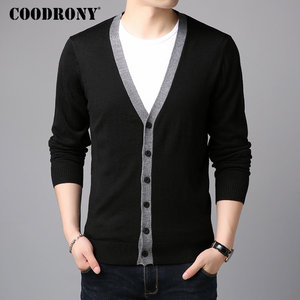 Image 3 - COODRONY Sweater Men Casual V Neck Cardigan Men Clothes 2018 Autumn Winter New Arrivals Knitted Cashmere Wool Mens Sweaters 8258