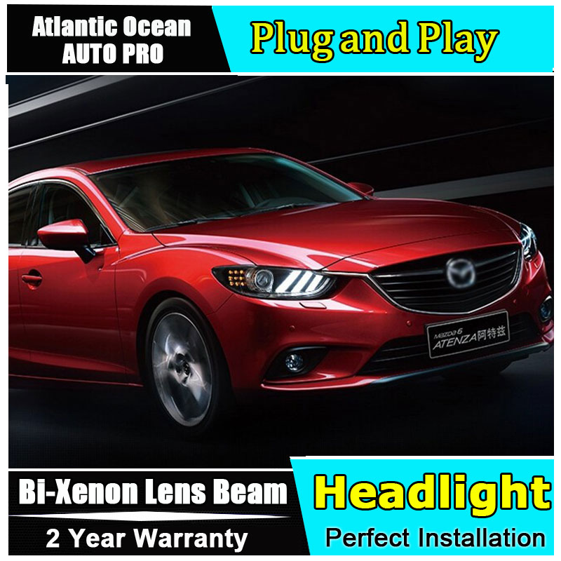 new led head lgiht For Mazda 6 Atenza headlights 2014 2015 for Mazda 6 mustang design