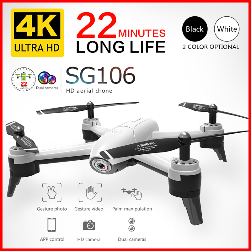SG106 Wifi RC  Drone  4K 1080P 720P HD Dual Camera Optical Flow Aerial  Quadcopter FPV Drone Long Battery Life Toys For Kids
