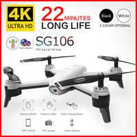 SG106 Wifi RC Drone 4K 1080P 720P HD podwójny aparat optyczny przepływ powietrza Quadcopter dron fpv długi na baterie życie zabawki dla dzieci
