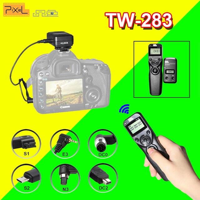 Pixel TW-283 TW283 для Canon Nikon D3100 D7100 D7000 D5100 D5000 Sony Камера Беспроводной Таймер Пульт дистанционного Спуск затвора объектива Управление кабель