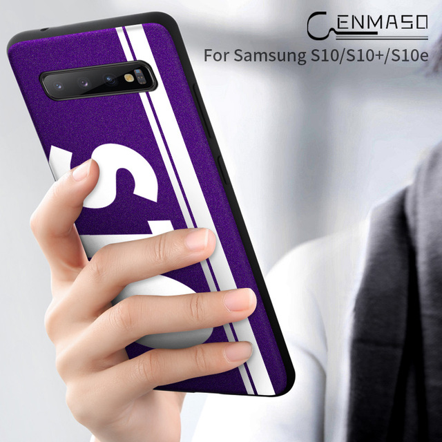 Samsung S10 S10 Plus Original Sports Street Culture Leather Soft Edge Protect Back Case Cover