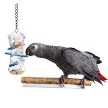 CAITEC игрушки для попугаев толкайте и тяните интерактивные лакомства держатель укусы устойчивые для кормления птица игрушка для среднего и большого размера попугаев