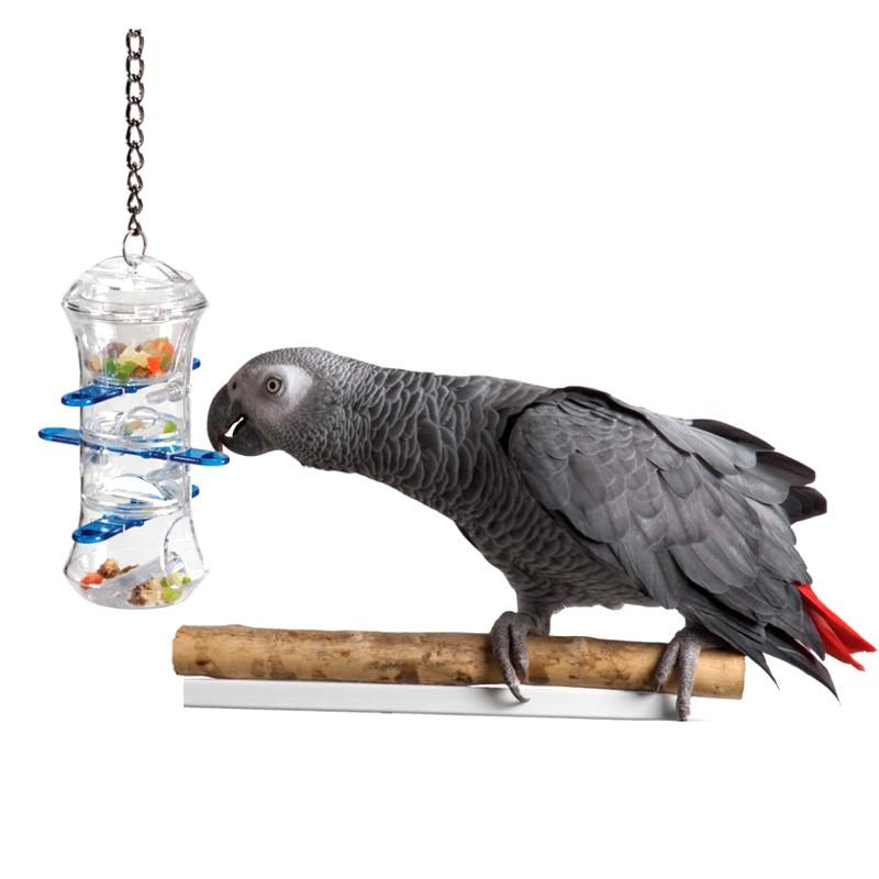 CAITEC игрушечные попугаи Push and Pull интерактивные лечения держатель укус устойчивы подкормка птица игрушка для средних и больших размеры попуг...