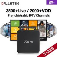 Genuine X98 PRO SUBTV Code French Arabic IPTV Box Amlogic S912 Octa Core 4K X98PRO