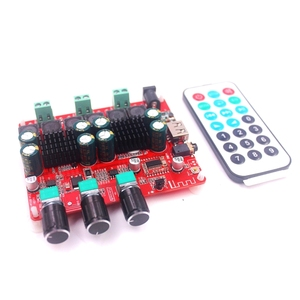 Image 2 - HIFI TPA3116 ซับวูฟเฟอร์ BLUETOOTH 4.2 เครื่องขยายเสียง 2.1 สเตอริโอเสียงดิจิตอลเครื่องขยายเสียงบอร์ด 50W * 2 + 100 วิทยุ FM USB
