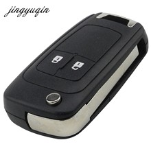 jingyuqin 10pcs/lot 2/3/5 Buttons Remote Case Fob Cover Flip Folding Key Shell Blank For Chevrolet Lova Sail Aveo Cruze Replace(China)