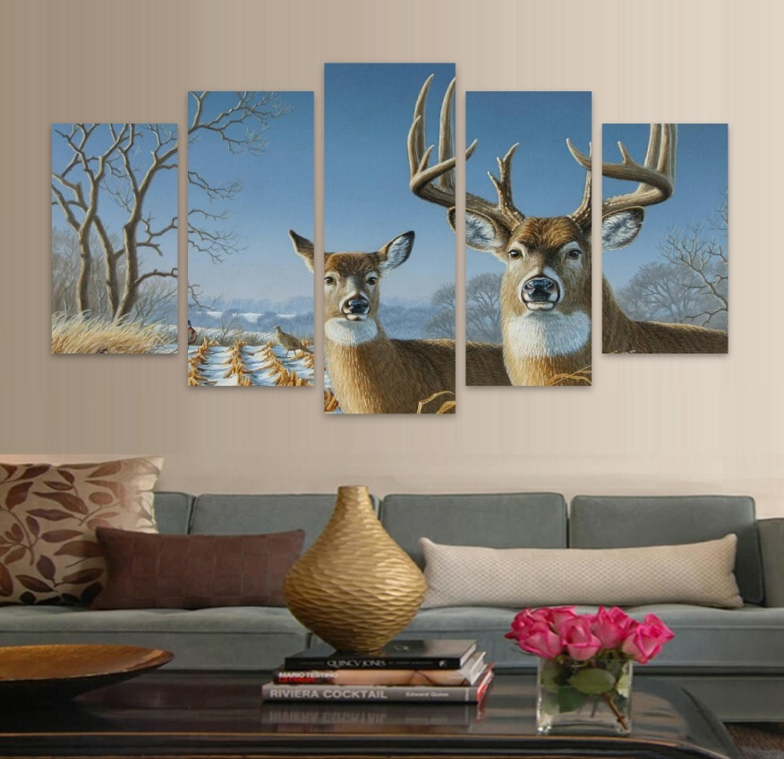 Wholesale Deer Nature HD Canvas Wall Art Animal Picture