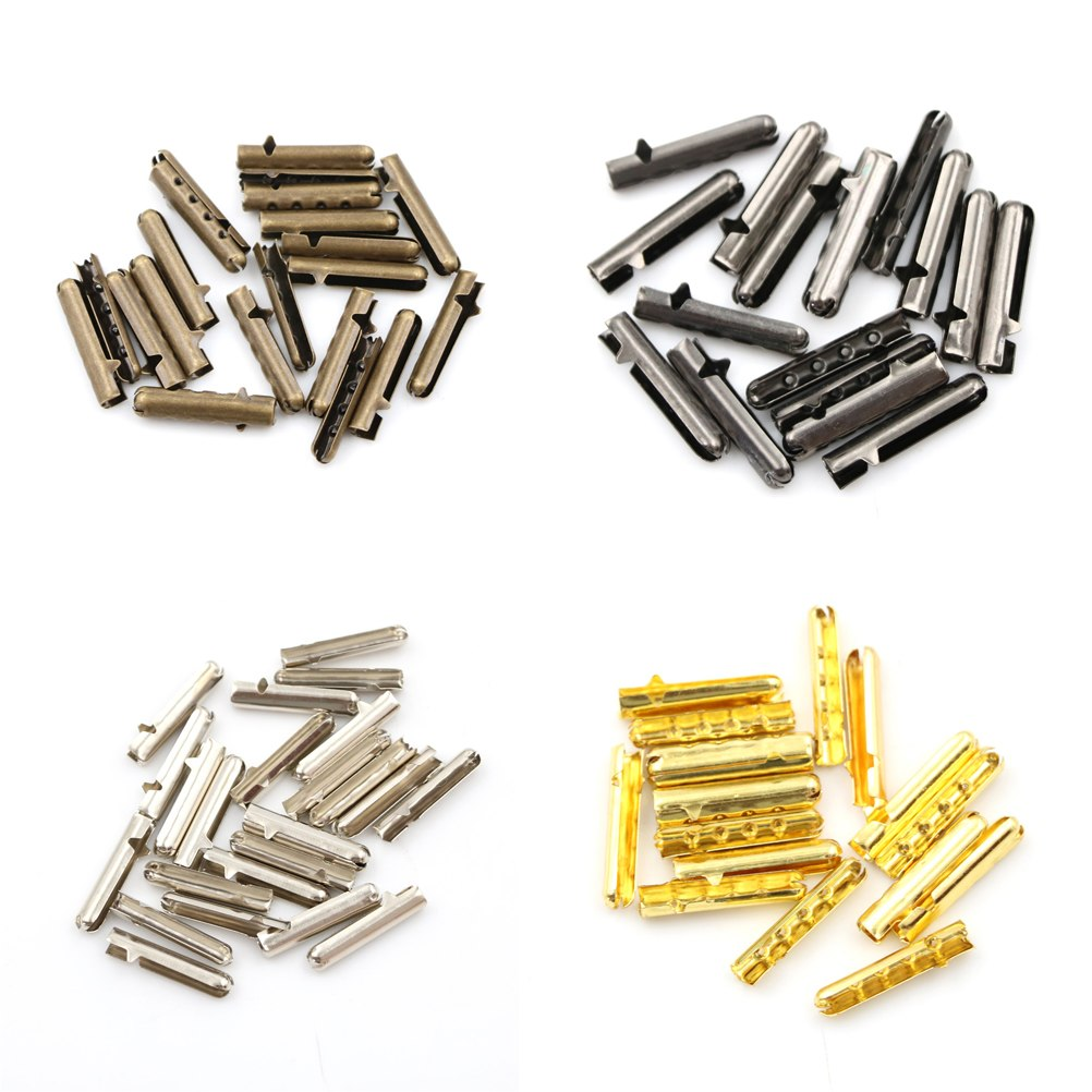 10PCS Women Men Shoe Lace Tips Replacement Head for Shoestrings Bullet Aglets Round Accessories for DIY Shoelaces 10pcs safety shooting eva bullet round head