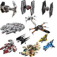 Совместимая Legoing Звездные войны Fighter Block Набор Модель космического корабля Starwars строительные кирпичные игрушки для детей с ручным без коробки