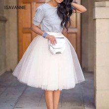 7 Layers Tulle Skirt Handmade Hidden Zipper Elegant  Maxi Skirts Womens Adult TUTU Pleated Bridesmaids Faldas Petticoat 2018