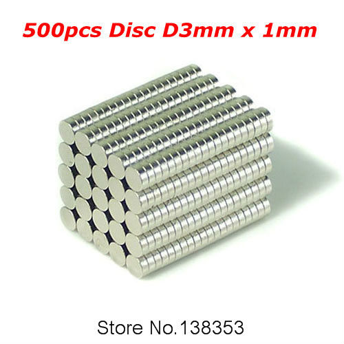 500pcs Bulk Small Round NdFeB Neodymium Disc Magnets Dia 3mm x 1mm N35 Super Powerful Strong Rare Earth NdFeB Magnet 20pcs powerful neodymium disc magnets n35 grade diy craft reborn permanent magnet round magnet strong magnet 9mm x 3mm