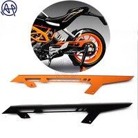1pcs Black/Orange Motorcyle Accessories Chain Protector Guard Cover For KTM DUKE 390 2013 2017 DUKE 125 2011 17 DUKE 200 2012 17