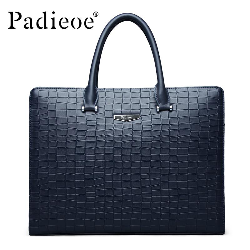 Padieoe, деловая брендовая мужская сумка, ts, модная мужская сумка из натуральной кожи, Мужской Жесткий портфель для документов, мужская сумка для ноутбука ts, сумка для мужчин