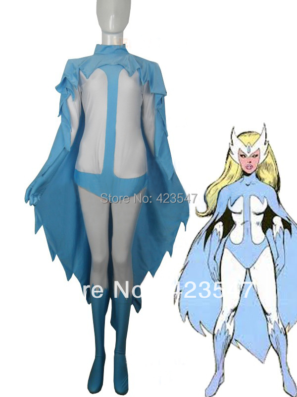Marvel Comics Alpha Flight Snowbird Superhero Costume Halloween Party Costumes-Zentai Suit