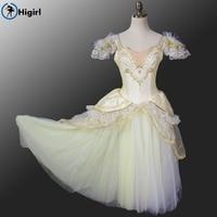 Gold Ballet Tutu Dress Adult Ballerina Costumes Professional Ballet Tutus Ballerina Dress Kids Giselle Ballet CostumesB001