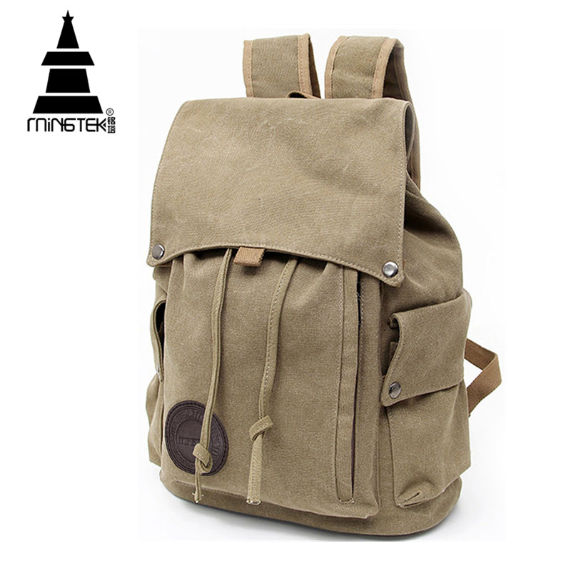 Vintage Canvas Backpack New Design Casual School Bags For teenagers Travel  Men Women Drawstring Backpacks Rucksack High Quality 7afabed815