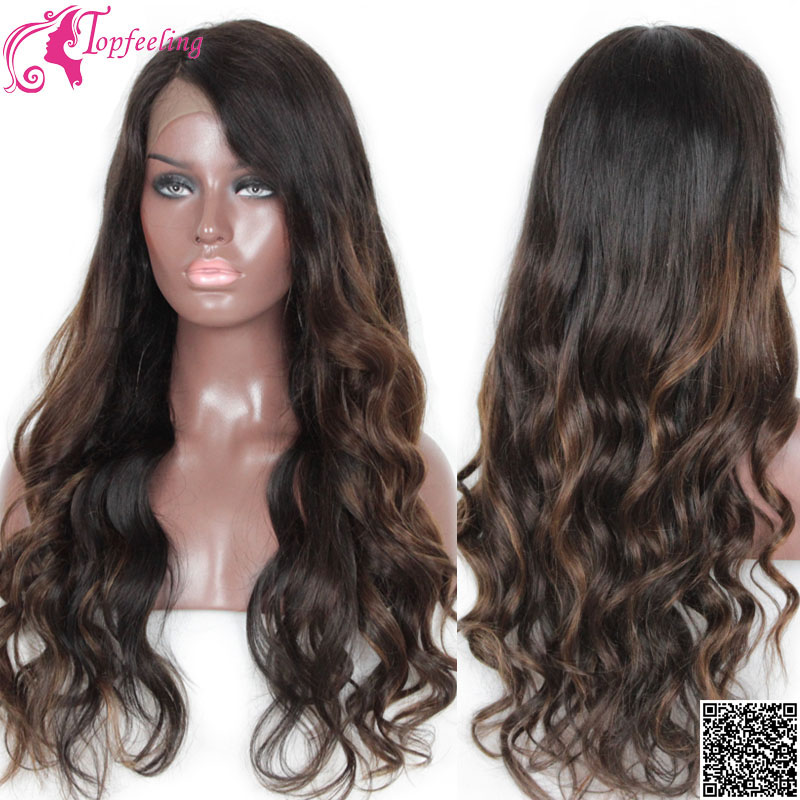 Top Quality Brazilian Virgin Hair Glueless Full Lace Human Hair Wigs For  Black Women Lace Front Wigs Ombre Lace Wigs Body Wave d74020dc2