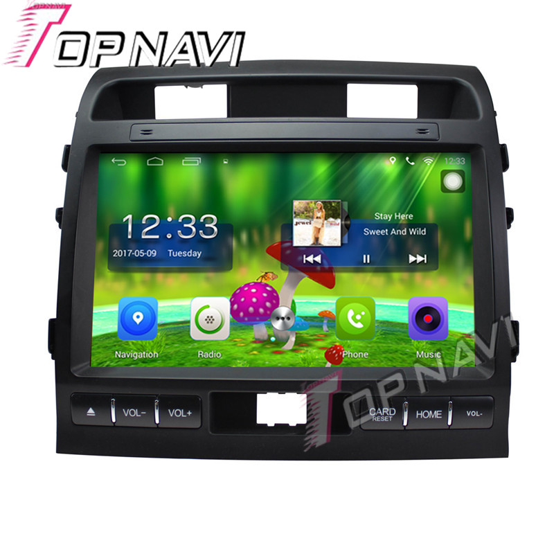 Topnavi 10 1 Quad Core Android 6 0 Car GPS Navigation For TOYOTA Cruiser 2009 2010