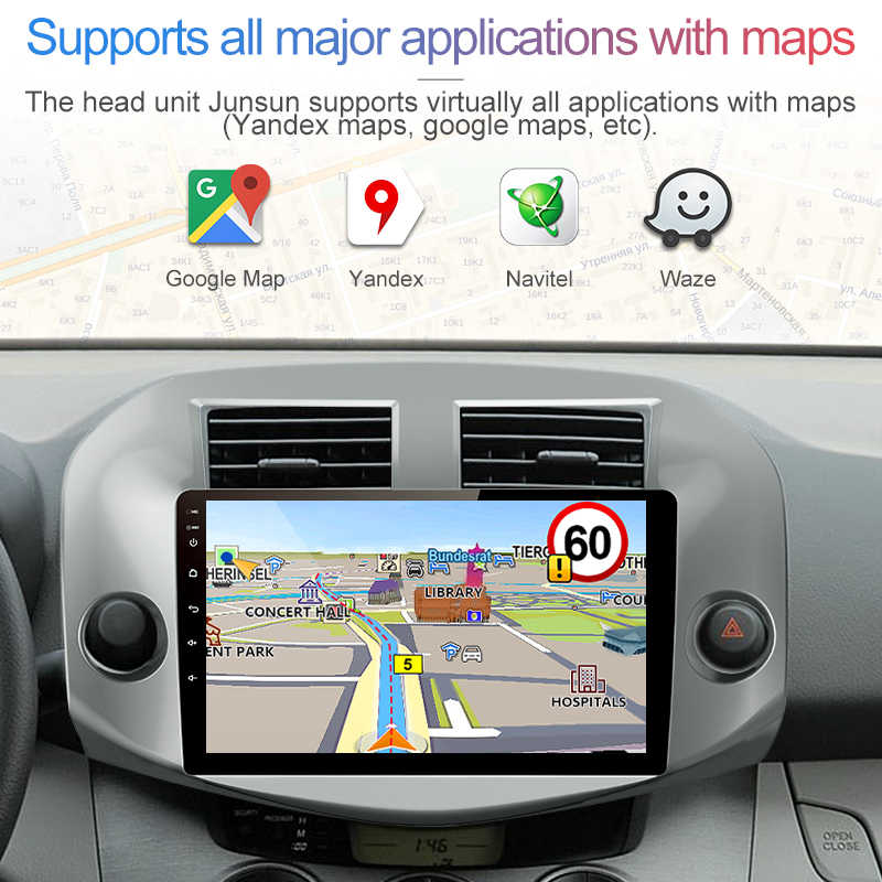 Junsun V1 2G + 32G Android 9.0 dla Toyota RAV4 2005-2007-2013 Radio samochodowe multimedialny odtwarzacz wideo nawigacja gps 2 din dvd