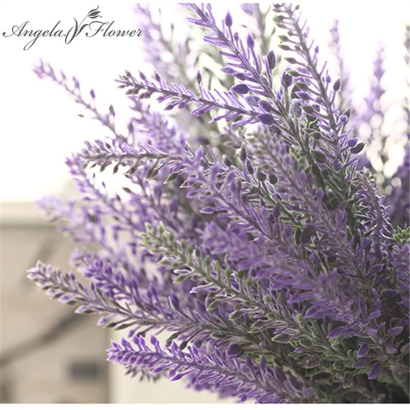 Romantic Provence decoration lavender flower silk artificial flowers grain decorative Simulation of aquatic plants-in Artificial & Dried Flowers from Home & Garden