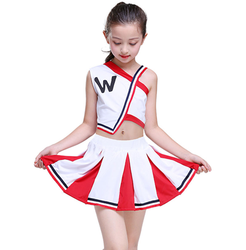 girl cheerleader uniforms children cheer team suits girls