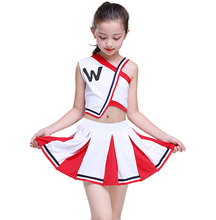 Girl Cheerleader Uniforms Children Cheer Team Suits Girls Cheerleading Boy Calisthenics Suit Student Competition
