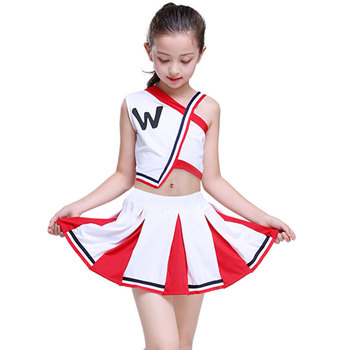 Girl Cheerleader Uniforms Children Cheer Team Suits Girls Cheerleading Uniforms Boy Calisthenics Suit Student Competition Suit anime lovelive card sr minami kotori cheerleading uniforms cosplay costume girls school cheerleading uniforms stocking gloves