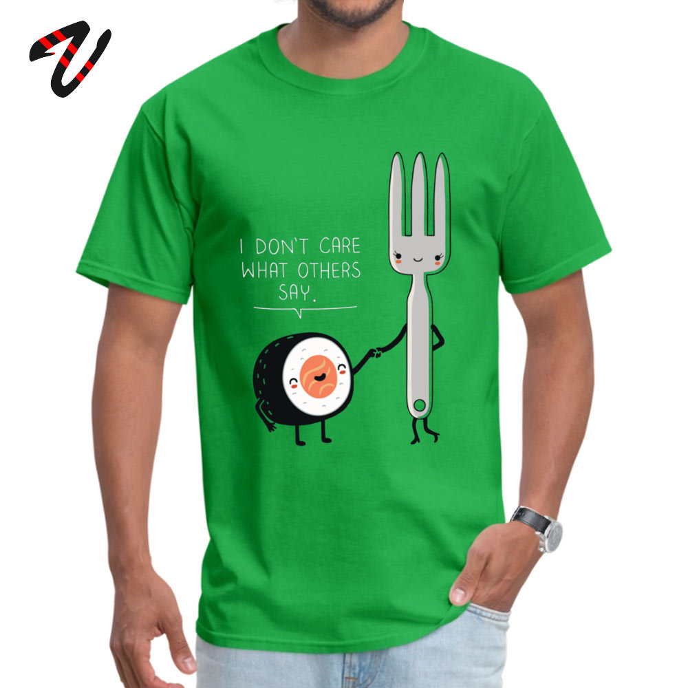 Sushi doesnt care Casual Top T-shirts for Men Pure Rogue Summer Fall Tops Tees Tee-Shirt My Hero Academy T Shirt