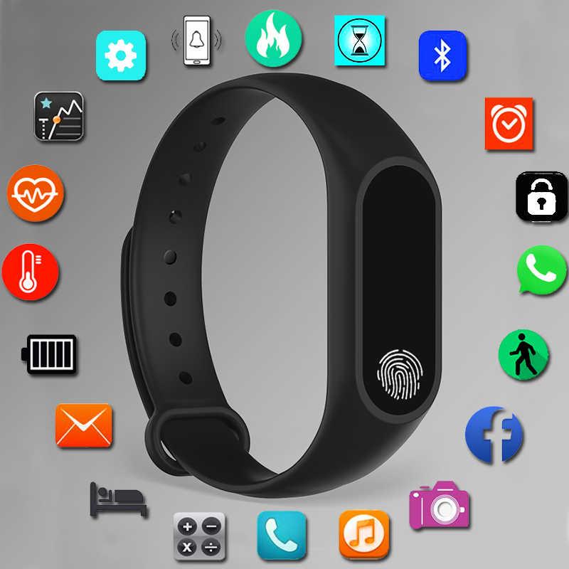 ספורט צמיד חכם שעון ילדים שעונים לילדים עבור בנות בני Smartwatch ילד צמיד חכם להקת שעון גשש כושר מתנה